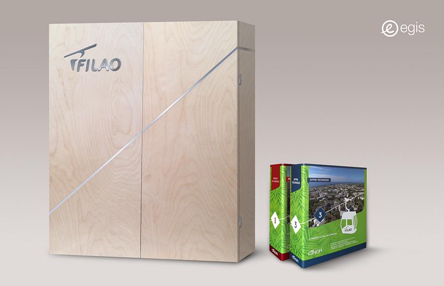 Egis réponse appel d'offre - Design et fabrication boîte sur mesure - Graphic swing