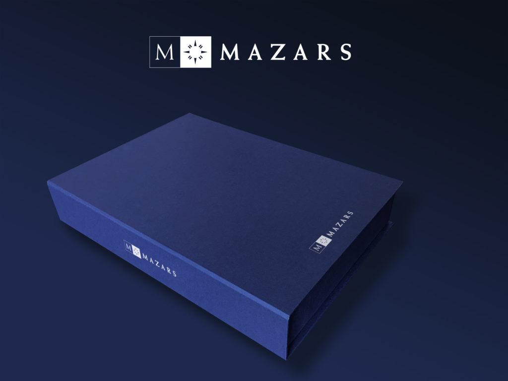 Mazars - Coffret réponse à appels d'offres sur-mesure pour brochures et Ipad - Graphic Swing design