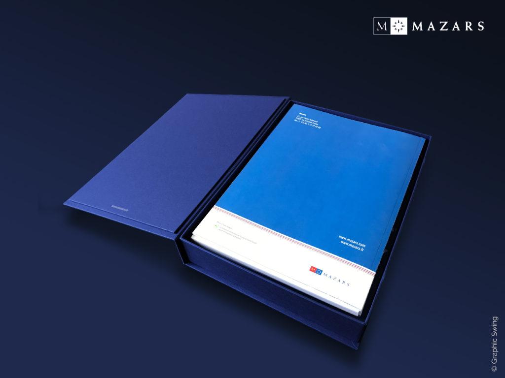 Mazars - Coffret réponse à appels d'offres sur-mesure pour brochures - Graphic Swing design