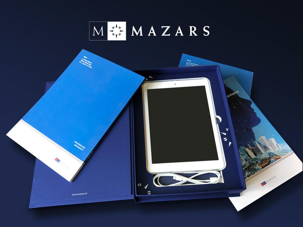 Mazars - Coffret réponse à appels d'offres sur-mesure pour Ipad - Graphic Swing design