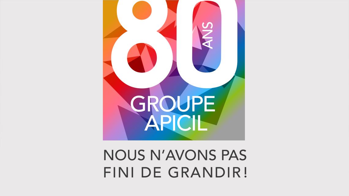 Groupe-Apicil 80 ans - Logo de l'événement Sagarmatha - Graphic Swing